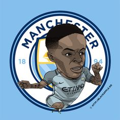 Manchester City No.7 Raheem Sterling Fan Art Ver2