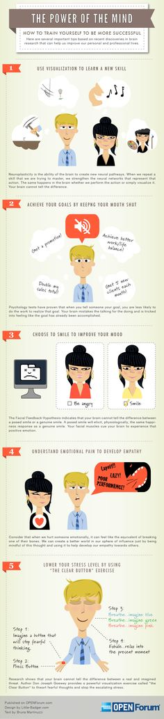 Power Of The Mind: How To Train Yourself To Be More Successful #Infographic #Business