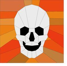 Skull block  Foundation paper piecing. von Lovinglypieced auf Etsy