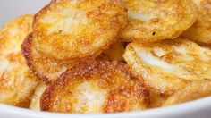 You'll love snacking on these easy and yummyParmesan Egg Chips. ...    4 egg whites     1/2 teaspoon water     Pinch of garlic powder     Pinch of salt     Grated Parmesan cheese