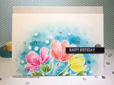 Happy Birthday – Watercolor Card Series (ft. Simon Says Stamp)