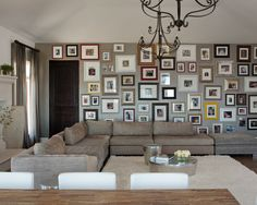 eclectic photo wall