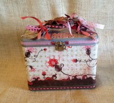 Handmade Card Organizer Tin with Dividers by Month and Theme