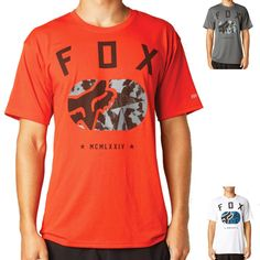 2015 Fox Racing Over Thrown Mens Active Gym Athletic Short Sleeve Shirt Top
