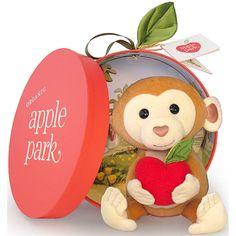 ぬいぐるみアップルパークプラッシュトイさる赤ちゃん出産祝いベビーおもちゃ誕生日プレゼント0歳1歳クリスマスプレゼント