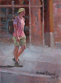 The Tourist by German Jaramillo-Mckenzie Oil ~ 12 x 9 Canvas Size, Oil On Canvas, Upcoming Events, German, Victoria, Journal, Artist, Artwork, Painting
