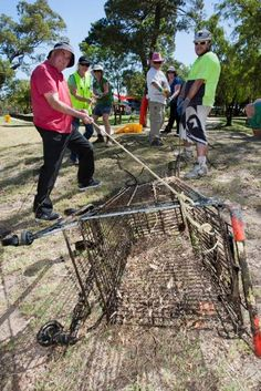 Previous Shire of Murray Clean Up Australia Day volunteers removing a shopping trolley from the Murray River. Photo: Supplied.  In the 2016/17 financial year, the Shire of Murray spent about $82,000 on the collection and disposal of litter and illegal dumping, of which $36,000 was spent on road side litter collection efforts.