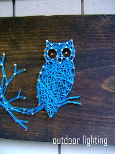 Modern String Art Wooden Tablet - Owl SIlhouette. $36.00, via Etsy. @Victoria Brown Kees