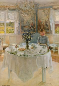 Celebration Day by Fanny Brate, the artist whose work inspired Carl Larsson.