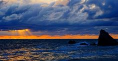 Atardecer del mar de Biarritz (Francia) #viajes #vino #enologia