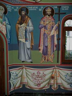Saints, Prince, Byzantine Icons, Interiors, Painting, Art, Fresco, Santos, Painting Art