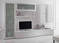 Italian Wall Unit Prestige Liberty 107 White by Spar - $6,325.00