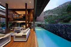 One of the three pools in Cape Town's Spa House Vacation Rental.Vacation Rental.