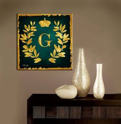 Believe that you Can 16in , Inspirational Canvas Wall Art Set  Artwork description:  Gold Leaf on Original Oil painting Backround  Title:G Your