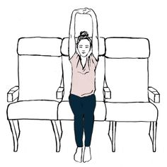 Stay calm and comfortable on your long-haul flight with help from our friends at Mindfresh. We know plane rides can be daunting and uncomfortable. See our how to guide for yoga on your next flight: Plane Seats, Plane Ride, Travelling Tips, Travel Tips, Travel Hacks, Traveling, Travel Stuff, Travel Ideas, Yoga Flow