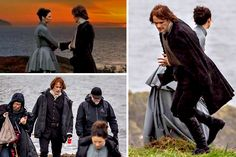 THESE stunning snaps have given Outlander fans a sneak peek of the hotly-anticipated season three of the time-travelling drama. The images show Sam Heughan and Caitriona Balfe brave the Scottish we…