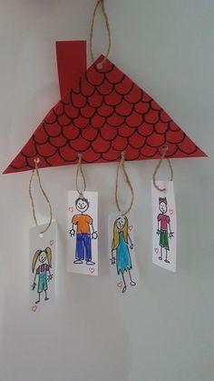 Family Theme Craft Idea Family Theme Craft Idea Craft Ideas Kindergarten Die R . Preschool Family Theme, Family Crafts, Preschool Crafts, All About Me Preschool Theme, All About Me Crafts, Toddler Crafts, Crafts For Kids, Arts And Crafts, Toddler Daycare
