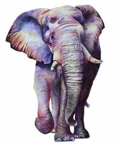 elephant Source by Elephant Artwork, Elephant Love, Elephant Print, African Art Paintings, Animal Paintings, Watercolor Animals, Watercolor Art, Cute Drawings, Animal Drawings