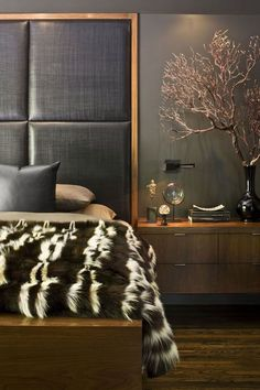 New home design modern bedroom headboards ideas Interior Design Portfolios, New Interior Design, Interior Rugs, Interior Modern, Contemporary Bedroom, Modern Bedroom, Kitchen Contemporary, Contemporary Cottage, Contemporary Apartment