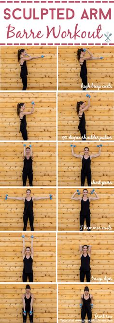 fitness Sculpt and tone your arms in ways you never imagined with this barre inspired arm workout. Little movements with lots of repetition will work arm muscles in miraculous ways! Shaping your biceps, shoulders, and triceps. Home or gym workout! Fun Fitness, Gewichtsverlust Motivation, Sport Fitness, Body Fitness, Fitness Diet, Health Fitness, Workout Fitness, Barre Fitness, Fitness Goals