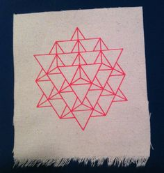 3D 64 Star Tetrahedron PATCH / Merkaba Sacred Geometry Platonic Solids
