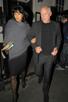 David Gilmour and Polly Samson Photo - Kate Moss Leaves the Bryan Ferry 'Olympia' Album Launch in London