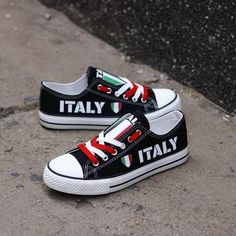 a5ea89571f Custom Printed Low Top Canvas Shoes - Proud Italy Pride Shoes