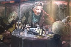 Star Wars: Unused Force Awakens Concepts - Han in crime city