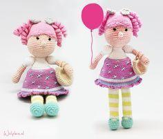 poppetje-haken-meisje, #haken, gratis patroon, Nederlands, amigurumi, knuffel, pop, speelgoed