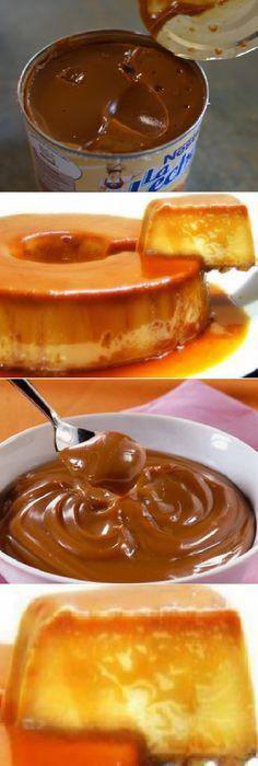 Flan de dulce de leche fácil. #flan #dulcedeleche #dulces #caramelo #caramel #postres #gelato #cheesecake #cakes #pan #panfrances #panettone #panes #pantone #pan #recetas #recipe #casero #torta #tartas #pastel #nestlecocina #bizcocho #bizcochuelo #tasty #cocina #chocolate Si te gusta dinos HOLA y dale a Me Gusta MIREN...