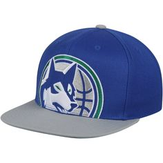 7d59eb06d117b3 Men's Minnesota Timberwolves Mitchell & Ness Blue/Gray Hardwood Classics  Cropped XL Logo Snapback Adjustable Hat, Your Price: $31.99. NBA Caps & Hats
