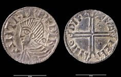 Viking coins from Dublin discovered in Wales. Eight of the coins date from between 995-997 AD, while the remainder were produced in circa 1018 AD. The hoard also contained fragments of pennies of Cnut, King of England and four silver ingots. It is believe that this treasure was most likely hidden or lost between 1020 and 1030 AD, which makes it approximately contemporary with the Bryn Maelgwyn hoard.
