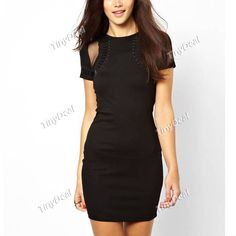 Evening/Party Fiber Purity Crewneck Sexy Bodycon Short Sleeve Dresses http://www.tinydeal.com/it/sexy-bodycon-short-sleeve-dresses-clubwear-for-women-p-113909.html