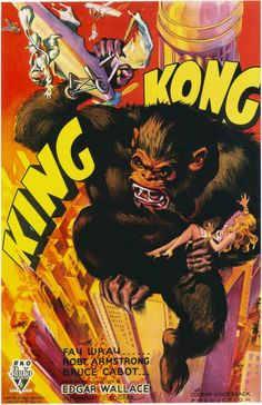 King Kong Theatrical Movie Pressbook, 1933. King Kong is a 1933 American fantasy monster/adventure film directed and produced by Merian C. Cooper and Ernest B. Schoedsack. http://en.wikipedia.org/wiki/King_Kong_(1933_film) http://www.imdb.com/title/tt0024216/trivia http://greenbriarpictureshows.blogspot.co.uk/2008/01/mighty-monarch-of-melodramas-king-kong.html