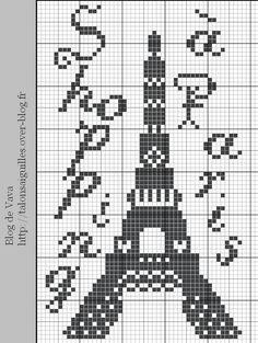 Questa è una deliziosaraccolta di SCHEMI A PUNTO CROCE piuttosto semplici , tutticon soggetto PARIGI .  Si, semplici da fare e abbastanz...