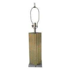 Brass & Acrylic Art Deco-Style Lamp