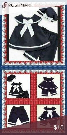 RARE EDITIONS 3 PC. SAILOR OUTFIT BRAND NEW! TOP QUALITY. SIZE TODDLER 3T Rare Editions Matching Sets