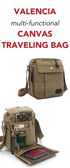 Valencia Unisex Multifunctional Canvas Traveling Bag comes in 3 different colors and is a great bag for any use!
