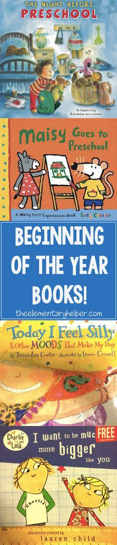 The first few weeks of school are spent getting to know one another & reading all kinds of books. Check out our favorites! From theelementaryhelper.com #theelementaryhelper