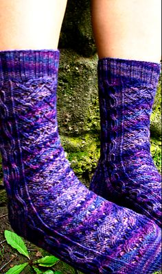 Very fancy socks....Ravelry: Tripping After the Nights Shade pattern by Claire Ellen
