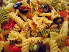 Cold Italian Pasta Salad and Dressing Recipe This is the best inloveeee