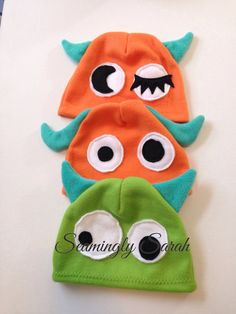 Fleece Monster Hats for Kids - READY TO SHIP Pirate Hats For Kids, Kids Hats, Monster Hat, Felt Crown, Felt Fox, Horse Costumes, Bird Costume, Fleece Hats, Cat Hat