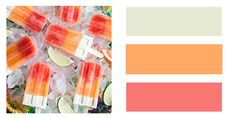 Summer is all about ice cream, popsicles, and other sweet treats! Check out these awesome summer wedding color palettes inspired from these yummy treats.