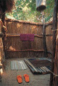 African bush shower.