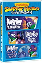 News Videos & more -  Veggie Tales: Super Hero Triple Feature (Larry Boy and the Bad Apple/Larry Boy and the Rumor Weed/Larry Boy and & the Fib from Outer Space) #Music #Videos #News