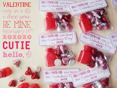 "Bubbles and Hershey Kisses are all it takes to makes these ""Blowing You Kisses"" Valentine treats. Printable included."