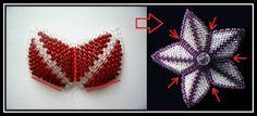 1. Для создания лилии нам потребуется:красный и прозрачный бисер, игла, леска. Листик лилии будем плести по этой схеме: 2.Набираем 21 бисерину и спускаем их в конец лески: 3.Набираем 2 бисерины и проходим во вторую…