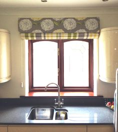Hard Padded Pelmet and Roman Blind
