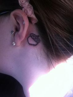 One of my sister's acorn tattoo <3