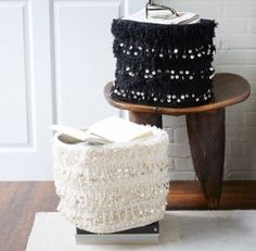 Moroccan woven baskets // Style At Home: Brooke White | theglitterguide.com